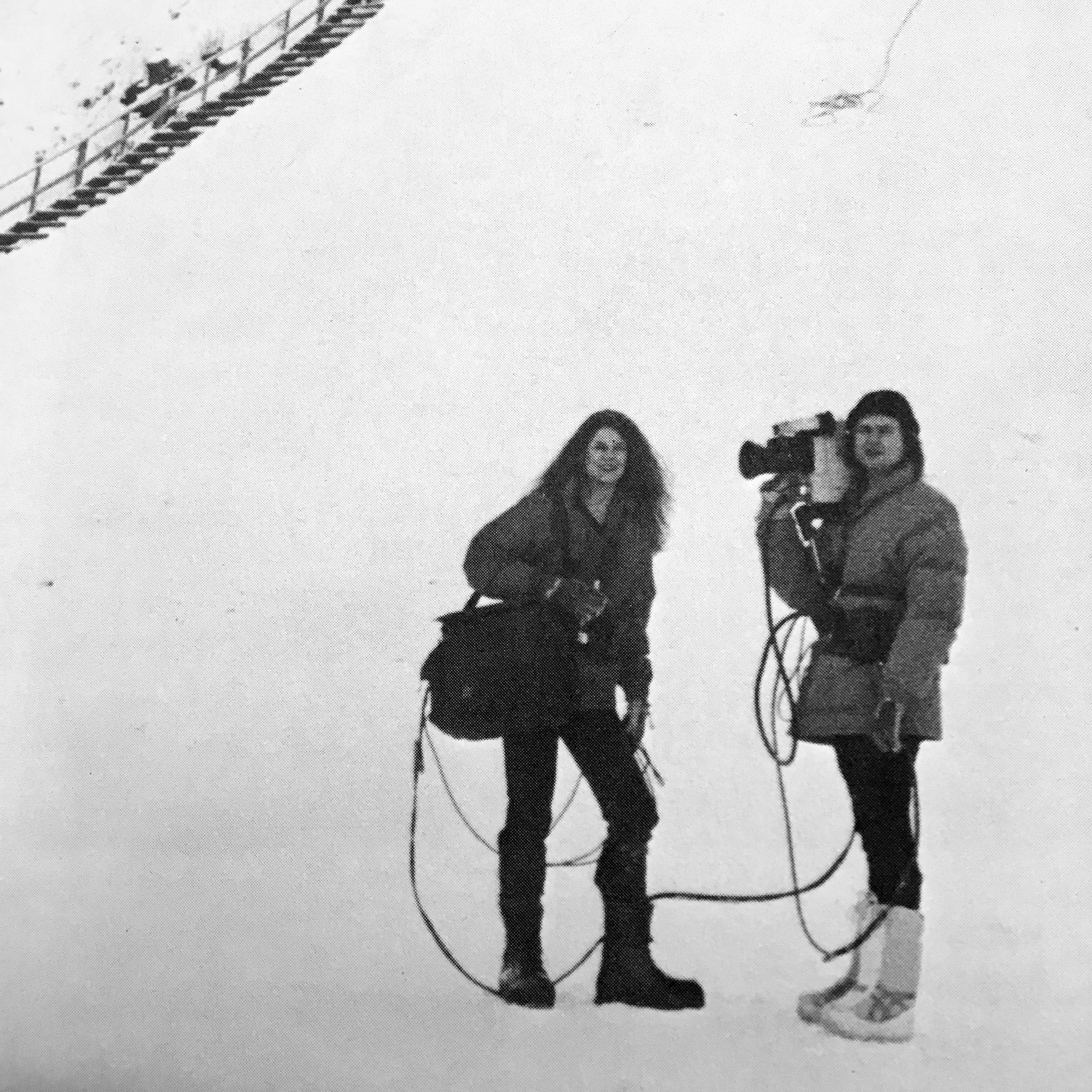 Filming winter Olympics