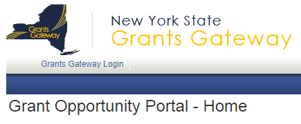 Grants Gateway Login screenshot