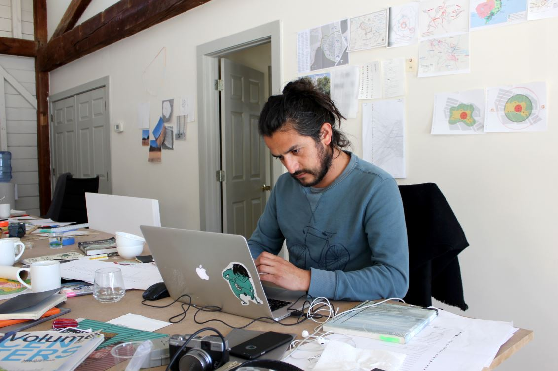 Art Omi Architecture Resident at Work