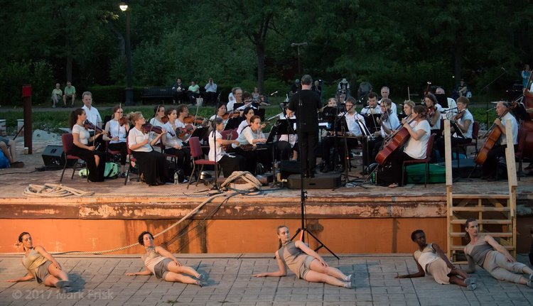 Albany Symphony Orchestra performs outdoors with dancers