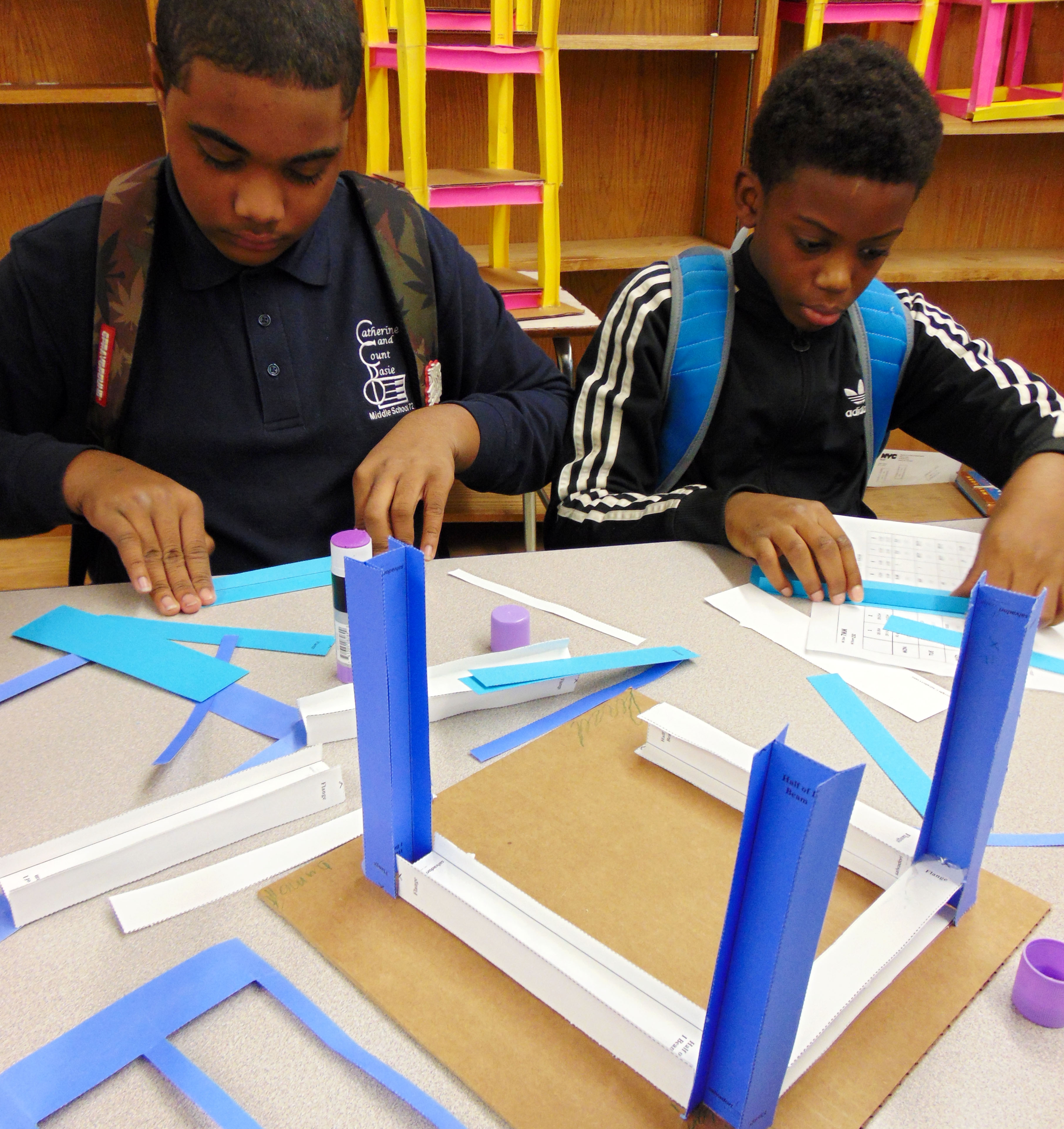 Students learn about architecture at the Salvadori Center