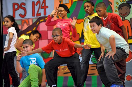 National Dance Institute's in-school program at Mott Hall, Bronx, NY. Photo by Angel Gardner.