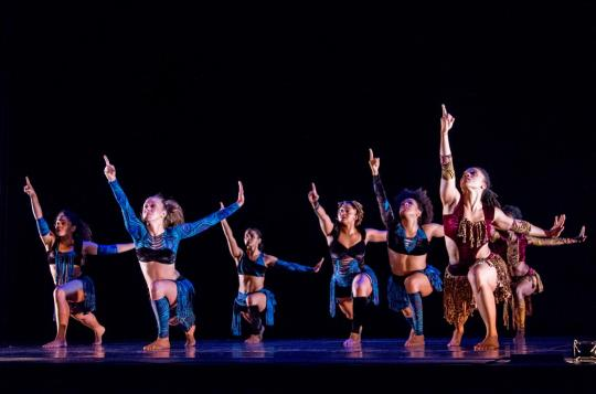 "Photo: Urban Bush Women in ""dark swan."" Photo by Michael Zirkle."