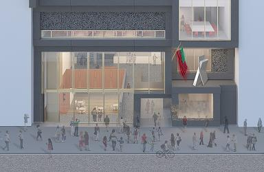 Facade view from 125th Street. Courtesy Adjaye Associates.